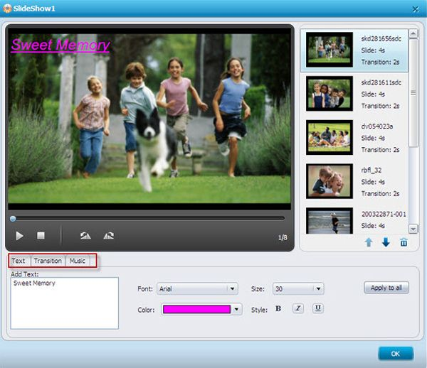 windows media player dvd slideshow editing