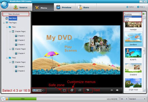Windows Media Player dvd burning