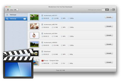 Free YouTube Downloader pour Mac key feature