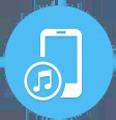 bouton pour transferer des musiques