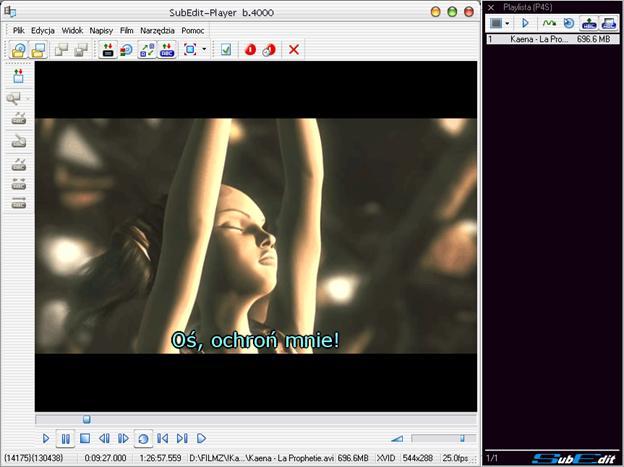 Editeur vidéo SubEdit Player