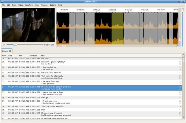 Editeur vidéo Subtitle Editor