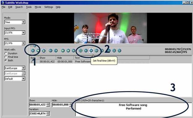 Editeur de vidéo Subtitle Workshop