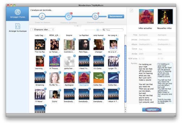 organiser musique itunes sur Mac