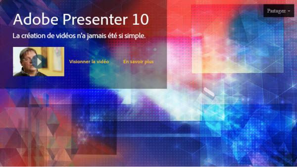 capturer vidéo Adobe Presenter 10