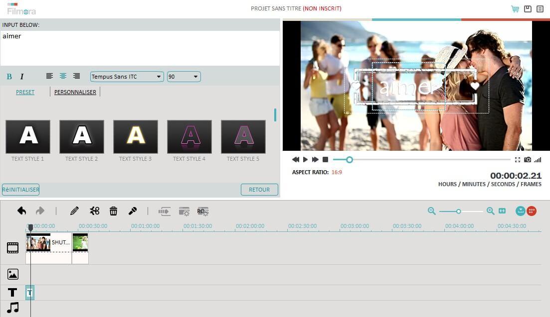 Image montrant la possibilité de partitionner chaque écran en sections dans final cut pro pour windows