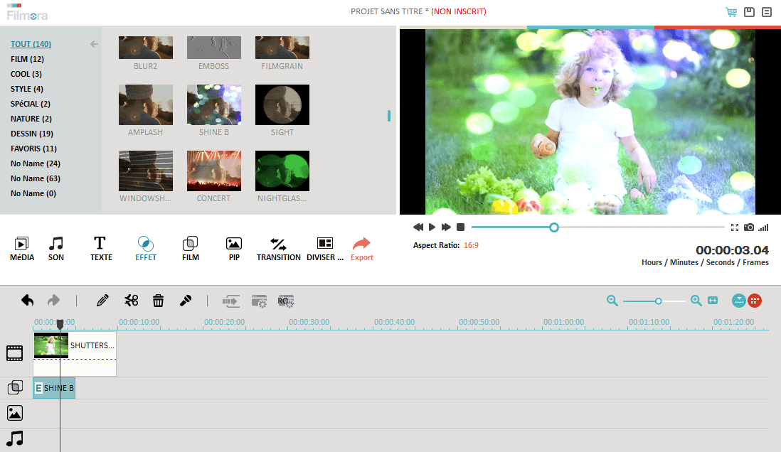 Wondershare Filmora (anciennement Wondershare Video Editor)