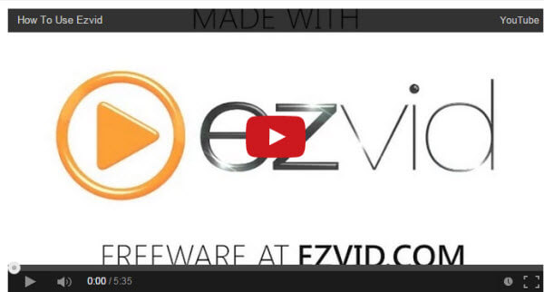 capturer vidéo Ezvid