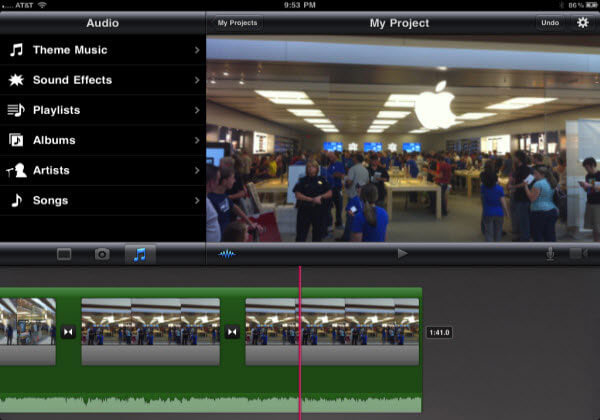 application montage video sur ipad