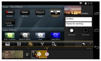 Applications de Montage Vidéo pour appareil Android