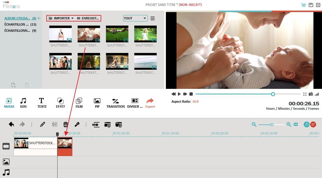 video editor main interface