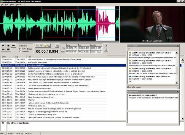 Editeur de vidéo VisualSubSync