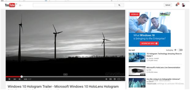 Apprendre plus sur Windows 10 de 5 bandes-annonces