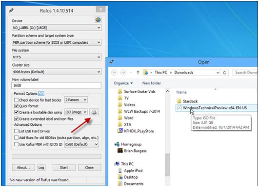 La Meilleure Façon de graver Windows 10 Insider Preview sur le lecteur flash USB