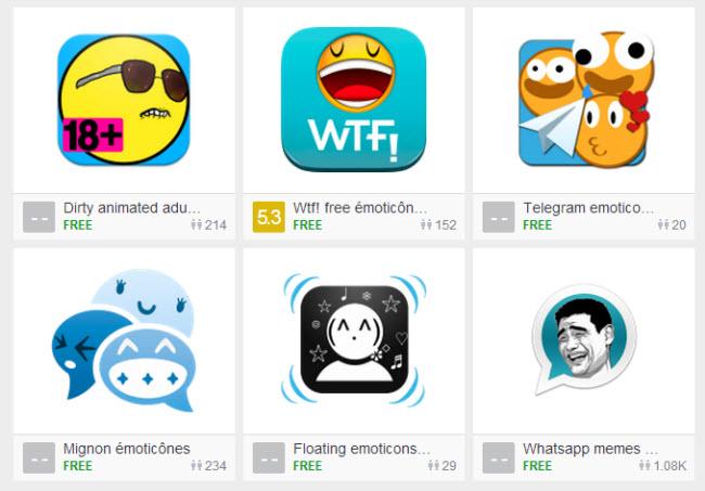 application émoticônes pour whatsapp