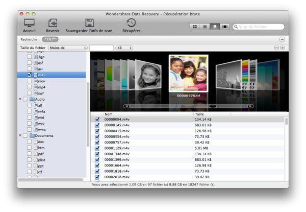 récupérer données depuis macbook air