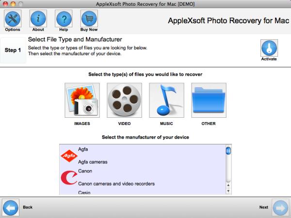 récupération photos Mac
