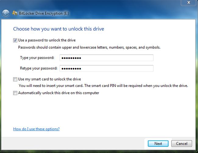 bitlocker flash drive