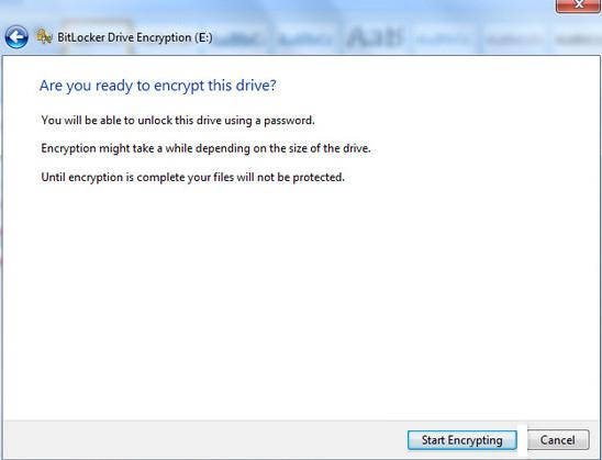 encrypt usb drive by bitlocker