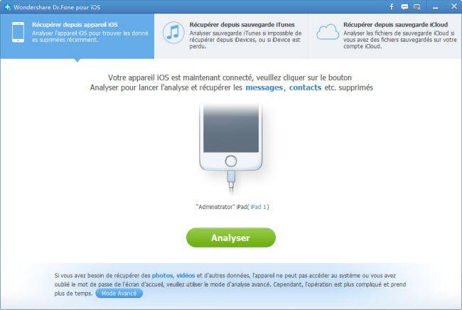 récupérer les données iPhone5