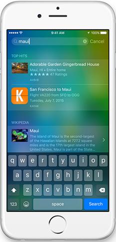 fonctionnalités stupéfiantes de iOS 9