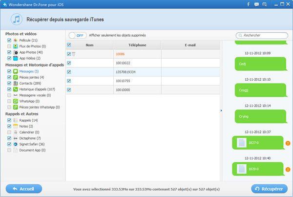 outil de récupération de données iphone 4S