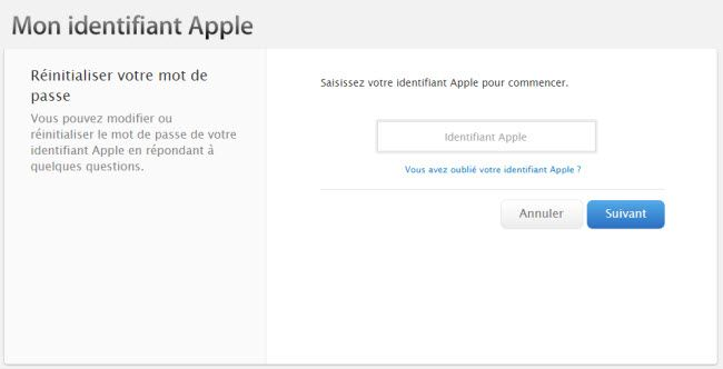 recuperer compte itunes