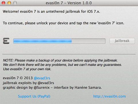 utiliser evasi0n 7 jailbreak iphone 4S