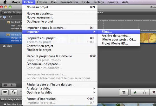 FLV en iMovie