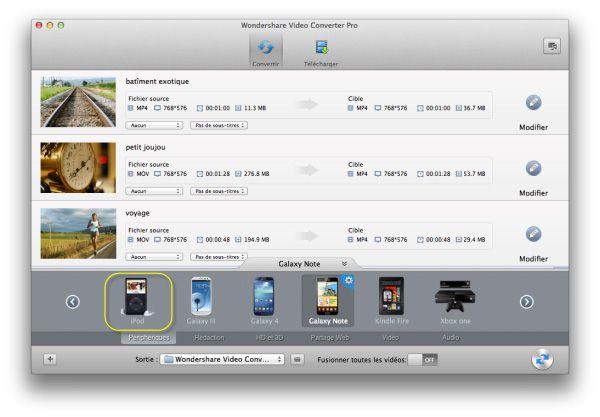 format pour convertir mkv vers iPod