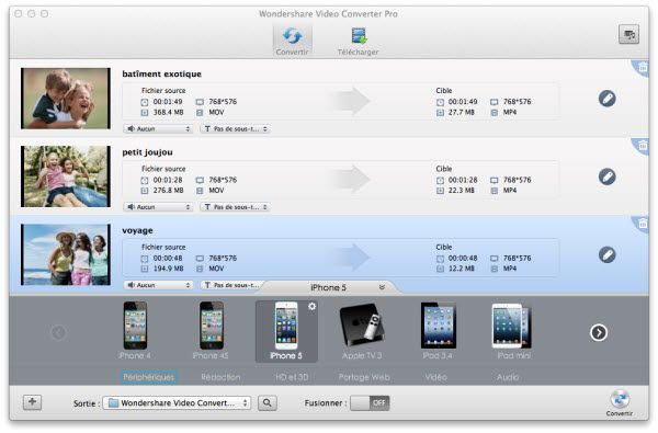 Comment lancer une video QuickTime sur iPad/iPhone/Android