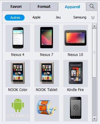 Convertisseur video pour Kindle Fire