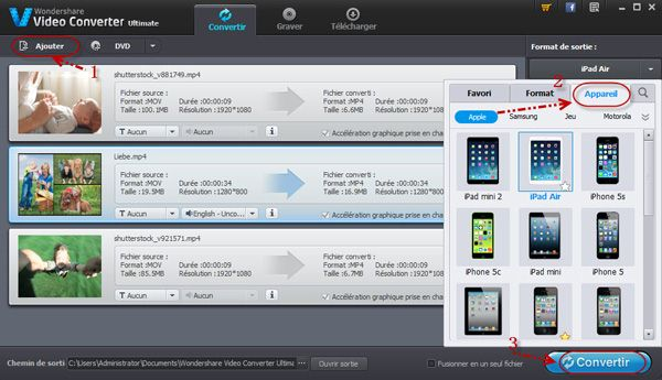 Convertir torrent pour ipad