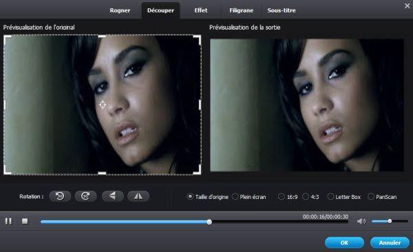 retoucher la vidéo avant la conversion SWF