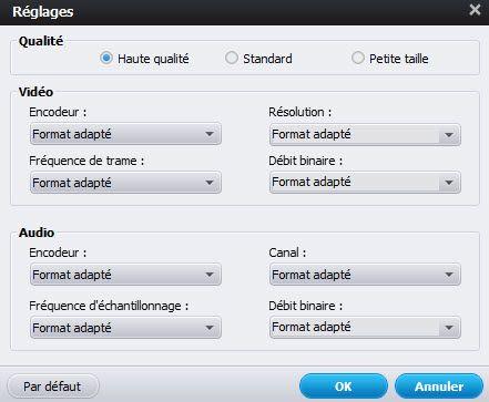 paramètre pour FLV en iPad 3
