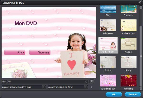 choisir modèle DVD