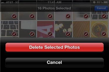 Comment supprimer Vidéos/Camera Roll  de l'iPhone