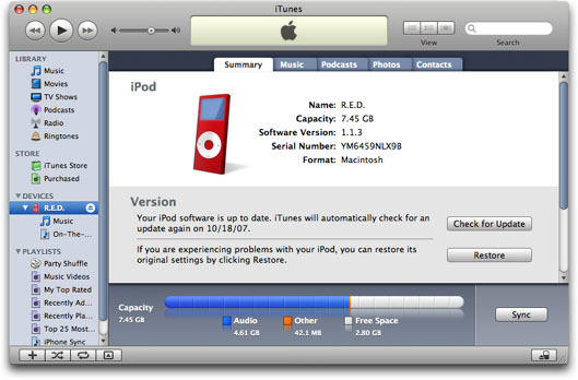 how to backup ipod to itunes