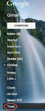 Comment retrouver des emails supprimés