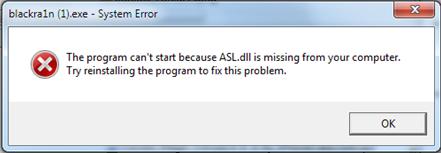 Fix Blackra1n Asl.dll Error