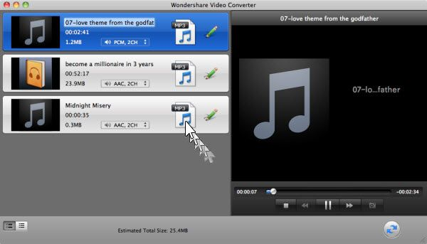 Convertir AIFF, M4B, M4R en MP3 pour le téléchargement de Google Music