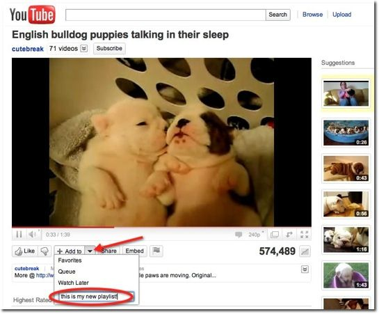 make youtube playlist