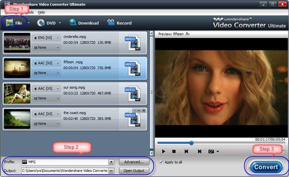 Comment faire pour convertir au format AVCHD en MPEG