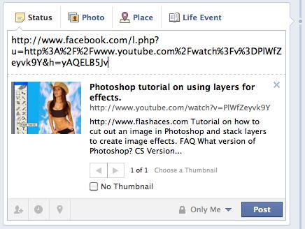 Comment transférer de la vidéo YouTube à Facebook Profil