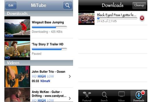 MXTube youtube downloader pour iOS