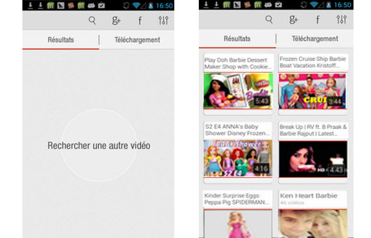 Videoder pour Android