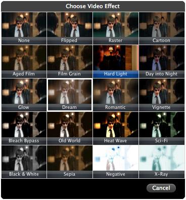 écran vert dans iMovie