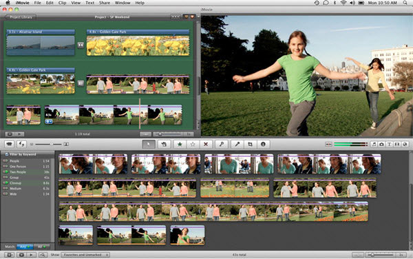 montage video mac - imovie