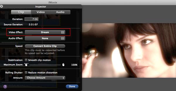 ajouter des effets vidéo dans iMovie